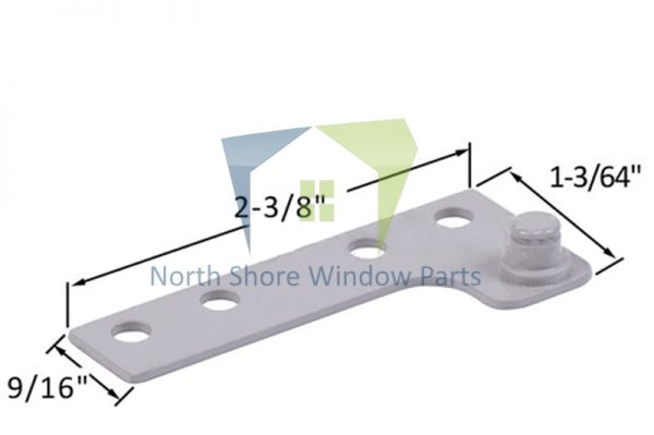 Stud Bracket (Truth Hardware 11257, 11258) (Left)